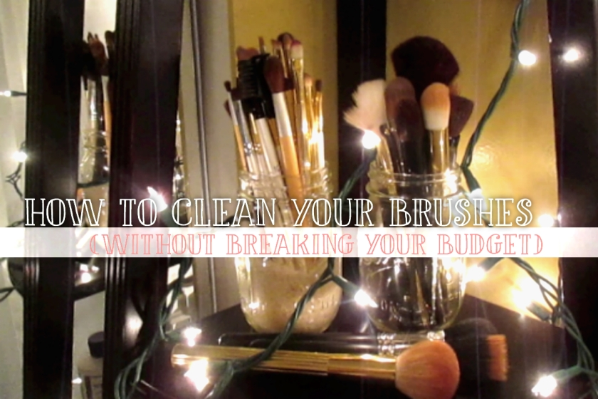 How To Clean Brushes BLOG COVER