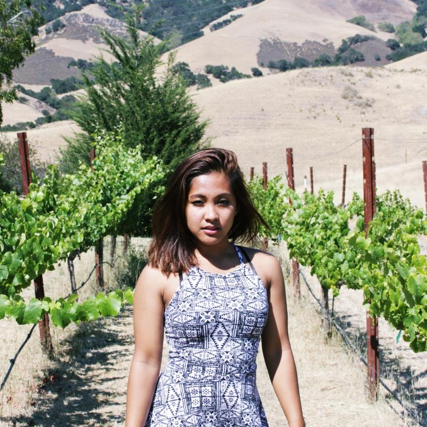 Walking Through Vineyard